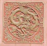 Dragão de cinzeladura de madeira Fotografia de Stock Royalty Free