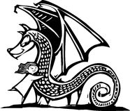 Dragão de Huggy ilustração do vetor