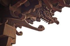 Dragão de madeira imagens de stock