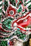 Dragão de vidro do mosaico Imagens de Stock Royalty Free