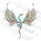 Dragão de voo modelado ilustração do vetor