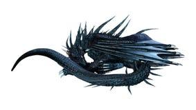 dragão do conto de fadas da rendição 3D no branco Imagem de Stock Royalty Free