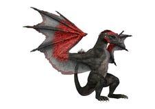 dragão do conto de fadas da rendição 3D no branco Imagem de Stock