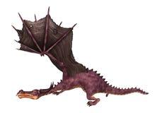 dragão do conto de fadas da rendição 3D no branco Imagens de Stock