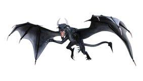 dragão do conto de fadas da rendição 3D no branco ilustração stock