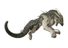dragão do conto de fadas da rendição 3D no branco foto de stock