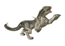 dragão do conto de fadas da rendição 3D no branco fotos de stock