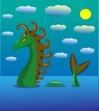 Dragão do mar no mar ilustração stock
