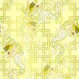 Dragão do ouro ilustração do vetor