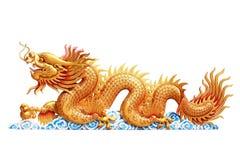 Dragão do ouro Fotos de Stock