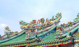Dragão dobro no telhado Fotos de Stock Royalty Free