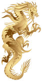 Dragão dourado ilustração do vetor