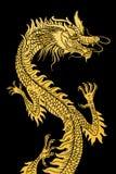 Dragão dourado. Foto de Stock