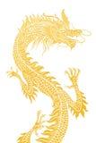 Dragão dourado. Foto de Stock Royalty Free