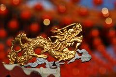 Dragão dourado Foto de Stock Royalty Free