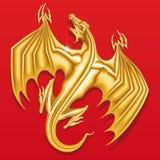 Dragão dourado Fotografia de Stock Royalty Free