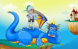 Dragão e cavaleiro ilustração stock
