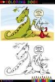 Dragão e cavaleiro para a coloração Fotos de Stock