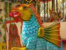 Dragão em um carrossel Imagens de Stock Royalty Free