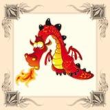 Dragão engraçado ilustração stock