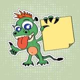 Dragão engraçado do estilo dos desenhos animados ilustração royalty free