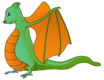Dragão engraçado isolado no branco Imagem de Stock