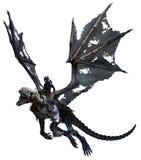 Dragão esqueletal ilustração royalty free