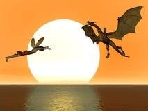 Dragão feericamente Foto de Stock