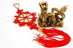 Dragão imperial chinês dourado Foto de Stock Royalty Free