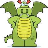 Dragão irritado ilustração do vetor