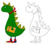 Dragão - livro de coloração Fotos de Stock Royalty Free