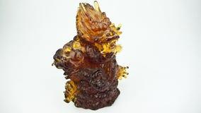 Dragão mau do incêndio do jade Fotografia de Stock