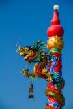 Dragão na coluna Fotografia de Stock