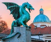 Dragão na ponte do dragão Foto de Stock