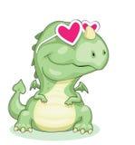 Dragão no amor Fotos de Stock Royalty Free