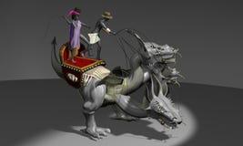 Dragão no circo Ilustração Royalty Free