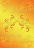 dragão no ouro Ilustração do Vetor