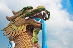 Dragão no templo 01 Foto de Stock Royalty Free