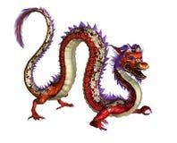 Dragão oriental vermelho - inclui o trajeto de grampeamento Fotos de Stock Royalty Free