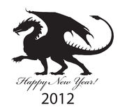 Dragão preto Fotografia de Stock Royalty Free