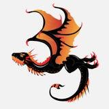 dragão Preto-alaranjado ilustração royalty free