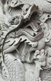 Dragão que cinzela em Hong Kong Fotografia de Stock Royalty Free