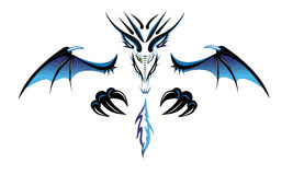 Dragão um demónio. ilustração stock