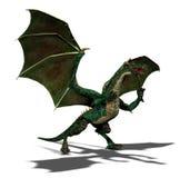 Dragão verde ilustração stock