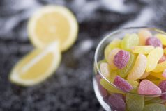 Dragées à la gelée de sucre aigres Photo stock