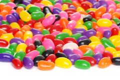 Dragées à la gelée de sucre colorées Images libres de droits
