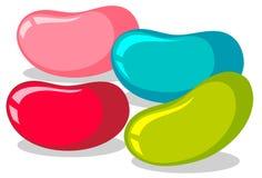 Dragées à la gelée de sucre dans quatre couleurs illustration stock