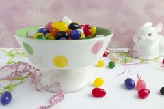 Dragées à la gelée de sucre de Pâques Image stock