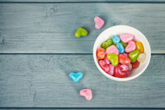Dragées colorées Photo stock