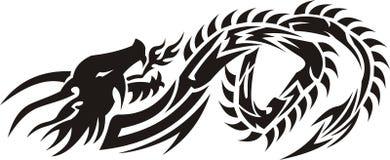 Dragón 02 de Triba Imagen de archivo libre de regalías